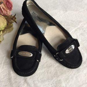 MICHAEL KORS Black Suede Loafers, 7